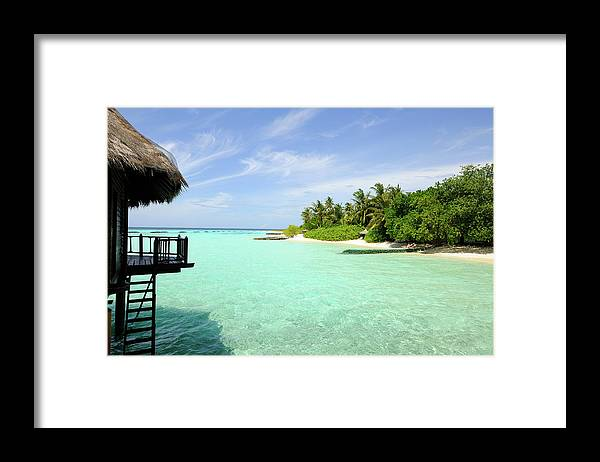 Seascape Framed Print featuring the photograph Outlook On A Maldives Island by Wolfgang steiner