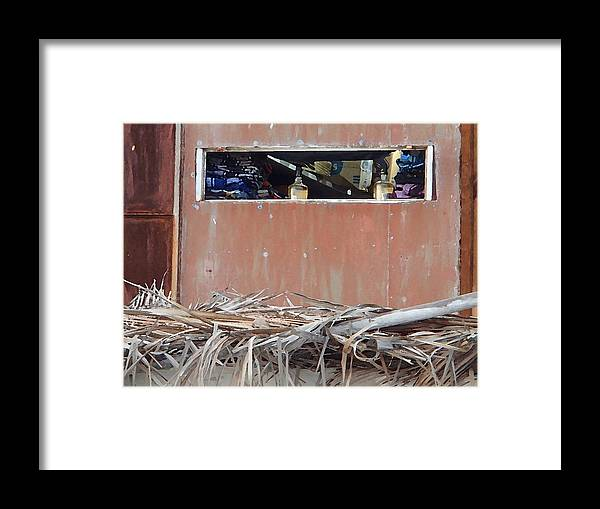 Beach Framed Print featuring the photograph Outside Looking In by Robin Stout