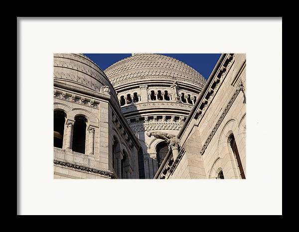 And Framed Print featuring the photograph Outside The Basilica Of The Sacred Heart Of Paris - Sacre Coeur - Paris France - 011310 by DC Photographer