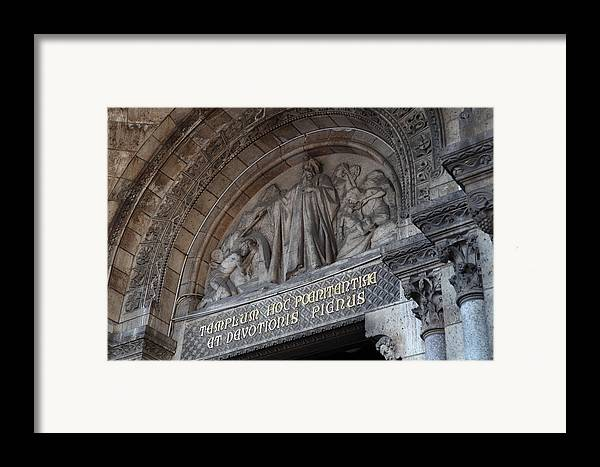 And Framed Print featuring the photograph Outside The Basilica Of The Sacred Heart Of Paris - Sacre Coeur - Paris France - 011312 by DC Photographer
