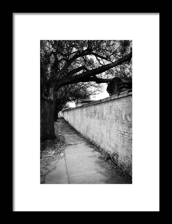 Cemetery Framed Print featuring the photograph Outside the Cemetery by Todd Hartzo