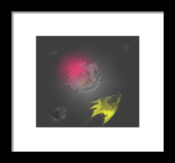 Digital Art Framed Print featuring the digital art Outter Space by Dan MacDonald