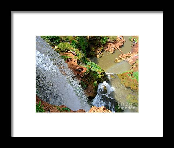 Morocco Framed Print featuring the photograph Ouzoud Falls Morocco by Sophie Vigneault