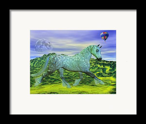 The Framed Print featuring the mixed media Over Oz's Rainbow by Betsy Knapp