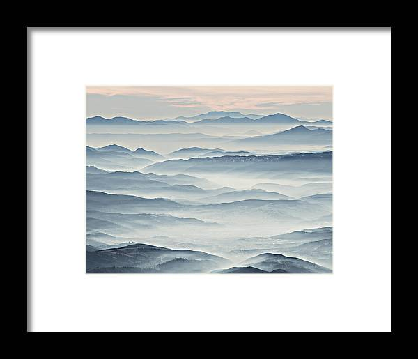 Landscape Framed Print featuring the photograph Over The Misty Mountains by Branislav Brankov