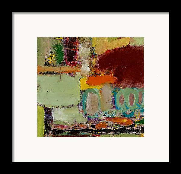 Landscape Framed Print featuring the painting Over There by Allan P Friedlander