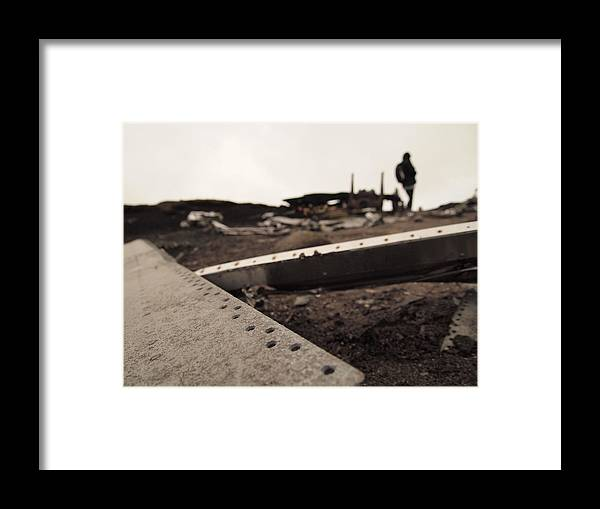 B52 B59 Flying Fortress Wreckage Plane Crash Site Dead Death Die Moore Moors Yorkshire Snakes Pass Over Exposed Overexposed Framed Print featuring the photograph Overexposed by Christopher Mercer