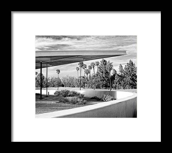 Palm Springs Framed Print featuring the photograph OVERHANG BW Palm Springs by William Dey