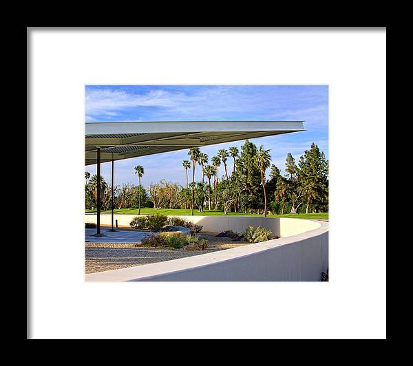 Palm Springs Framed Print featuring the photograph OVERHANG Palm Springs Tram Station by William Dey