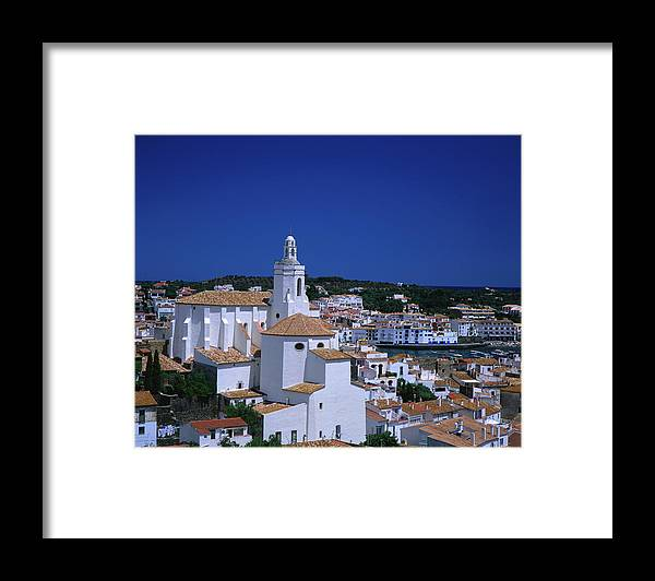 Catalonia Framed Print featuring the photograph Overhead Of Santa Maria Church And by David C Tomlinson