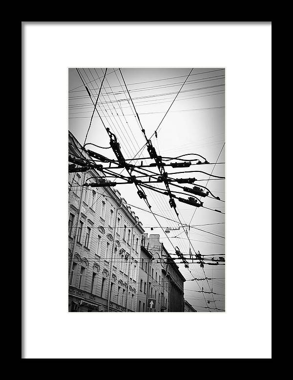 Wires Framed Print featuring the photograph Overhead Wires by Todd Hartzo