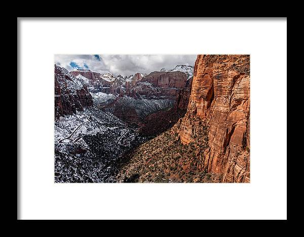 Zion Framed Print featuring the photograph Overlook by Chuck Jason