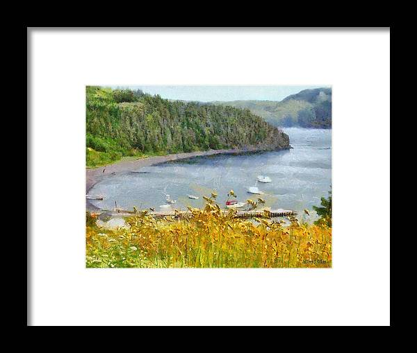 Canadian Framed Print featuring the painting Overlooking the Harbor by Jeffrey Kolker