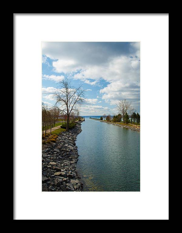 Landscape Framed Print featuring the photograph Owasco Lake Outlet by MaryGail Perkins
