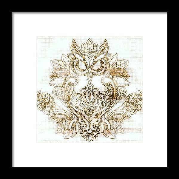 owls #tattoodesigns #tattoos Framed Print by Erica Mason