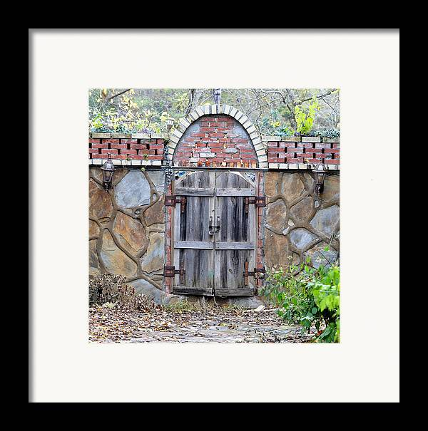 Architectural Framed Print featuring the photograph Ozark Gate by Jan Amiss Photography