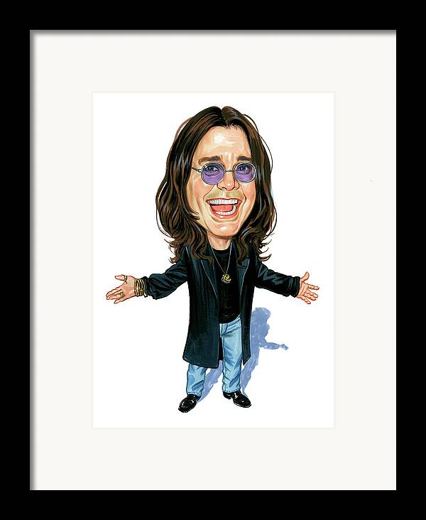 Ozzy Osbourne Framed Print featuring the painting Ozzy Osbourne by Art