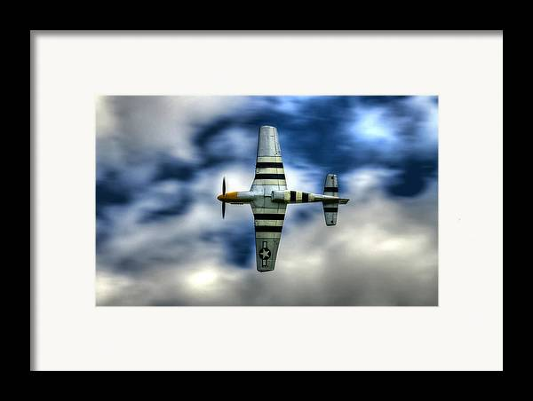 P51 Mustang Framed Print featuring the photograph P51d Mustang Ferocious Frankie by Phil 'motography' Clark