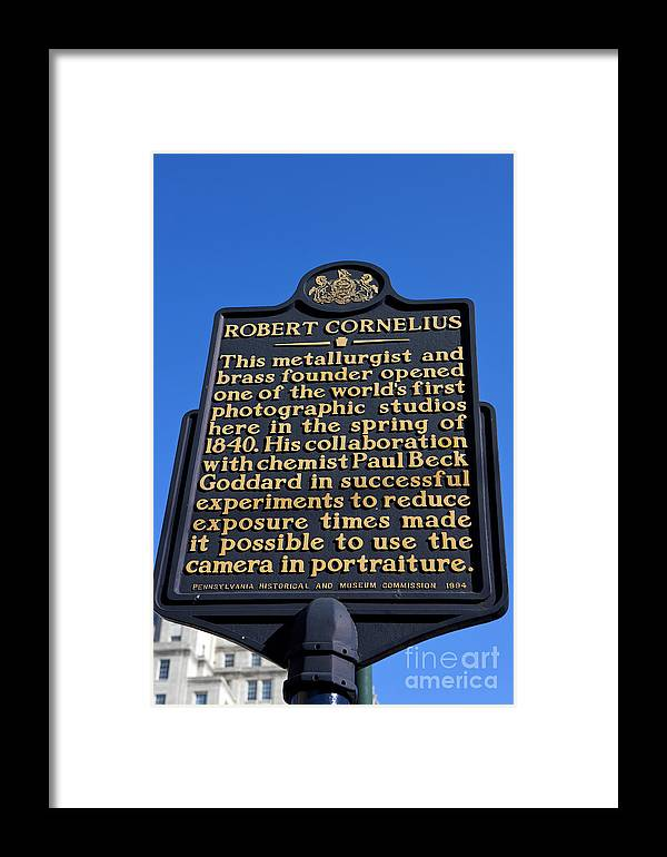 Robert Cornelius Framed Print featuring the photograph Pa-134 Robert Cornelius by Jason O Watson