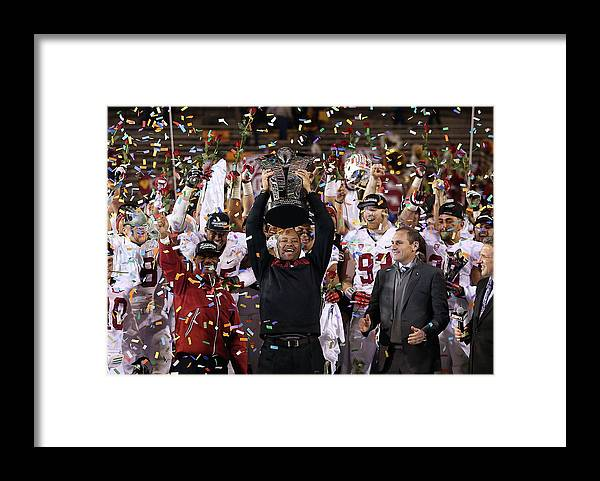Celebration Framed Print featuring the photograph Pac 12 Championship - Stanford V by Christian Petersen