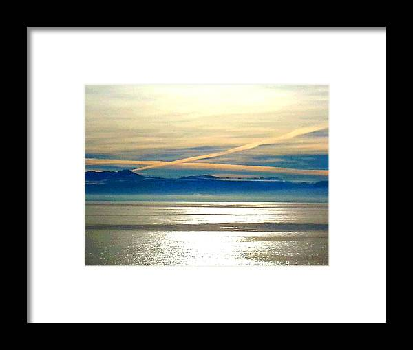 Photograph Framed Print featuring the photograph Pacific Blue by Nikki Dalton