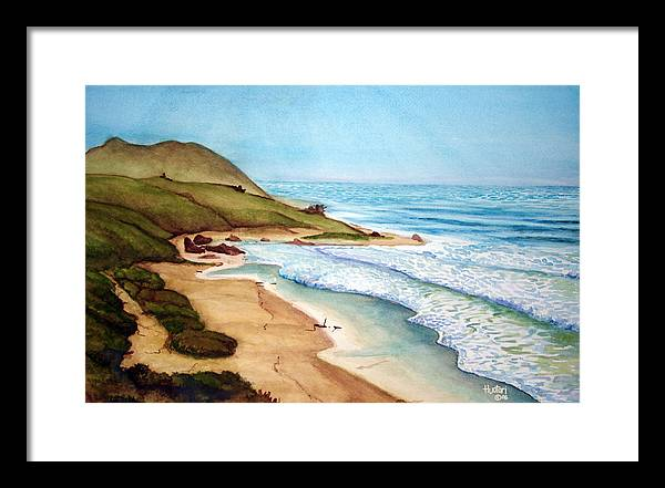 Rick Huotari Framed Print featuring the painting Pacific by Rick Huotari