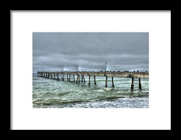 Beach Framed Print featuring the photograph Pacifica Fishing Pier 7 V2 by SC Heffner