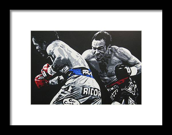 Pacquiao Framed Print featuring the painting Pacman Marquez 2 by Geo Thomson