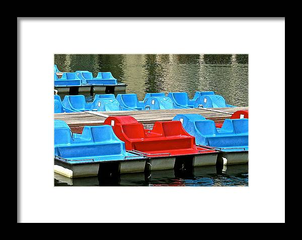 Paddle Framed Print featuring the photograph Paddle Boats by Jeff Gater