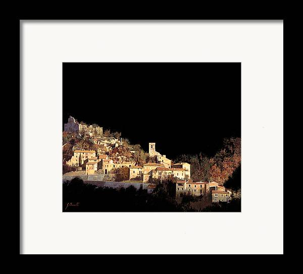 Landscape Framed Print featuring the painting Paesaggio Scuro by Guido Borelli