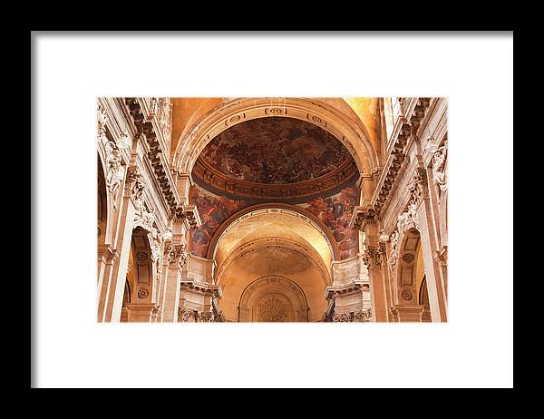 Arch Framed Print featuring the photograph Painted Ceiling Inside The Cathedral At by Julian Elliott Photography