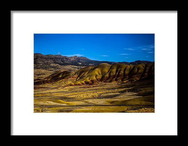 Painted Hills Oregon Framed Print featuring the photograph John Day National Monument 2 by Sally Bauer
