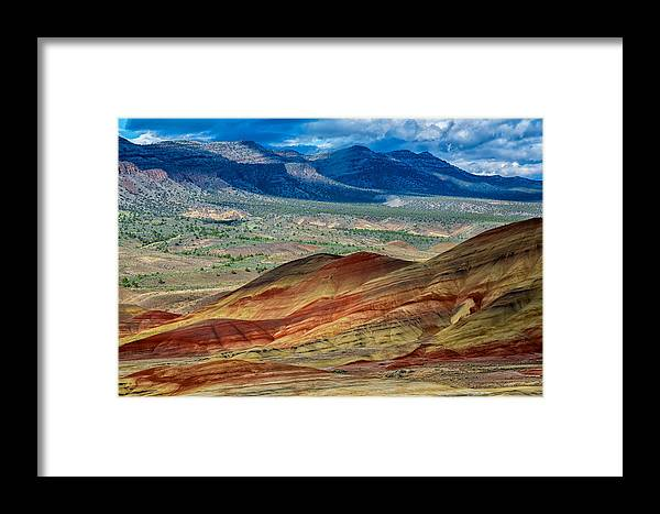 Landscape Framed Print featuring the photograph Painted Hills I by Robert Bynum