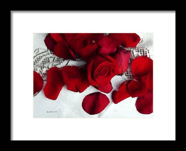 Rose Petals Framed Print featuring the photograph Painted Petals by Diane Goulart