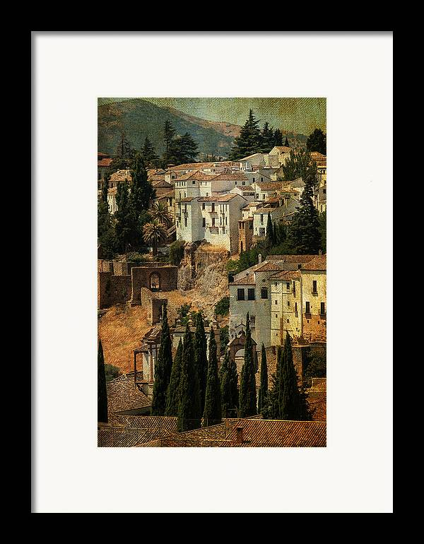 Spain Framed Print featuring the photograph Painted Ronda. Spain by Jenny Rainbow