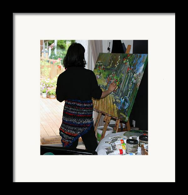 Behind The Scene Framed Print featuring the photograph Painting My Backyard 1 by Becky Kim