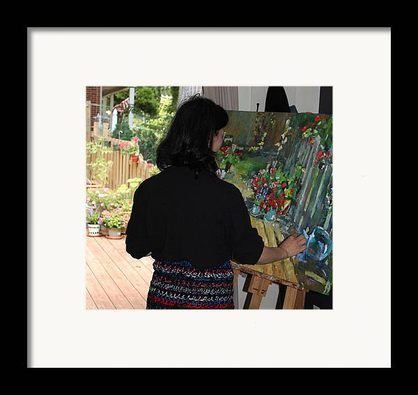 Behind The Scene Framed Print featuring the photograph Painting My Backyard 2 by Becky Kim
