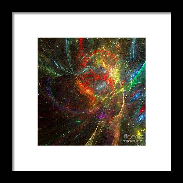 Hotel Art Framed Print featuring the digital art Painting The Heavens by Margie Chapman