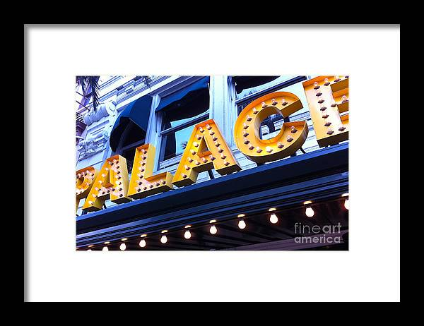 Palace Cafe Framed Print featuring the photograph Palace Cafe by Kim Fearheiley