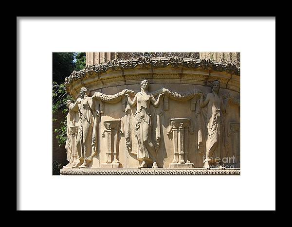 Relief Framed Print featuring the photograph Palace Of Fine Arts Relief San Francisco by Christiane Schulze Art And Photography