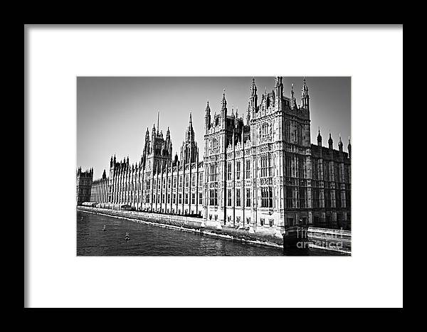 Palace Framed Print featuring the photograph Palace Of Westminster by Elena Elisseeva
