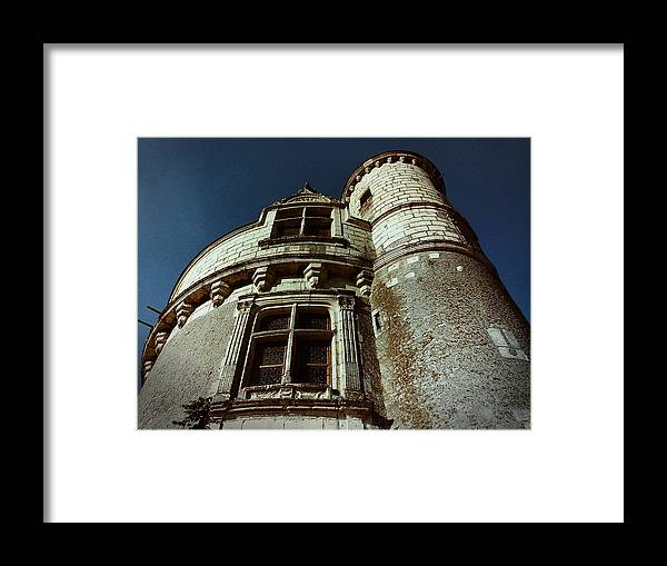 Chateau Framed Print featuring the photograph Palace Tower Of Chenonceau by Nafets Nuarb