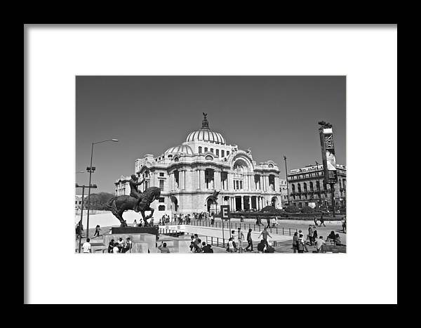 Palace Framed Print featuring the photograph Palacio De Bellas Artes by Galexa Ch