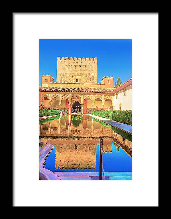 Day Framed Print featuring the photograph Palacio Nazaries In Alhambra by Dragomir Nikolov