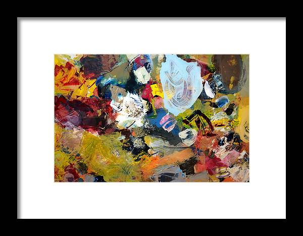 Rustic Framed Print featuring the painting Palette Abstract by Michelle Calkins