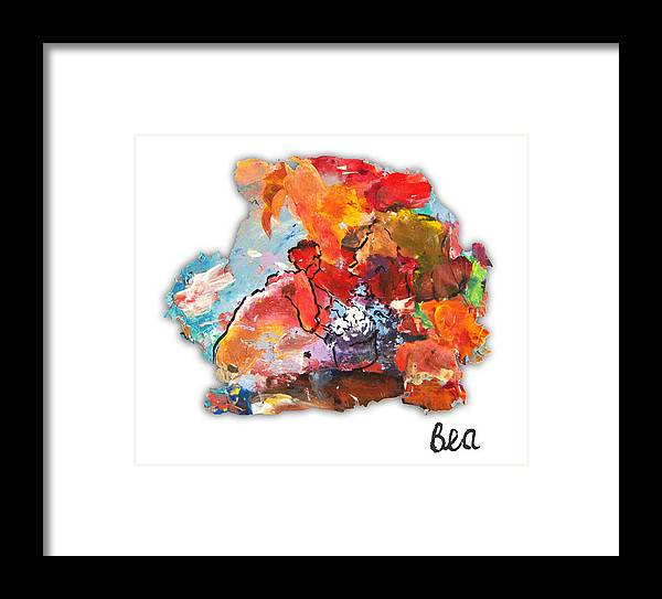 Mixed Media Palette Colour Expressionist Impressionist Flower Sellers Cape Town Bea Wolfaardt Framed Print featuring the painting Palette Impressions 2 by Bea Wolfaardt