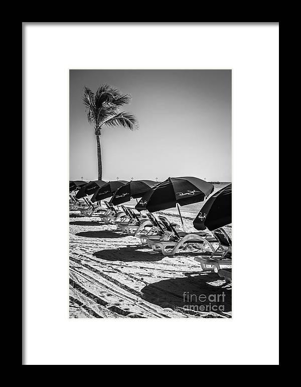 America framed print featuring the photograph palm and beach umbrellas higgs beach key west