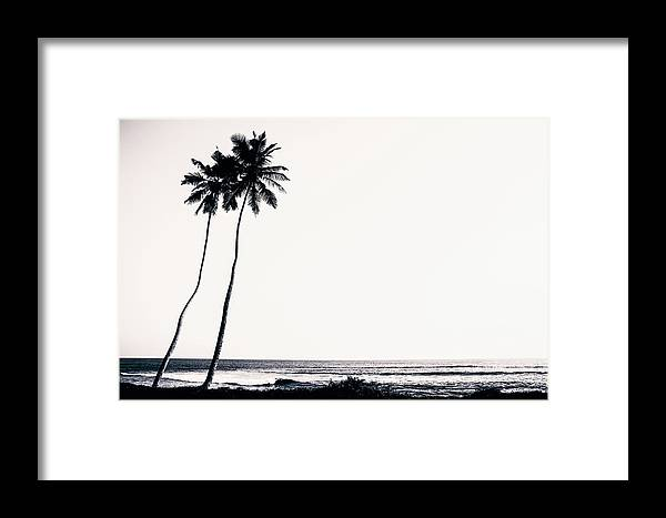 Empty Framed Print featuring the photograph Palm Trees And Beach Silhouette by Chrispecoraro