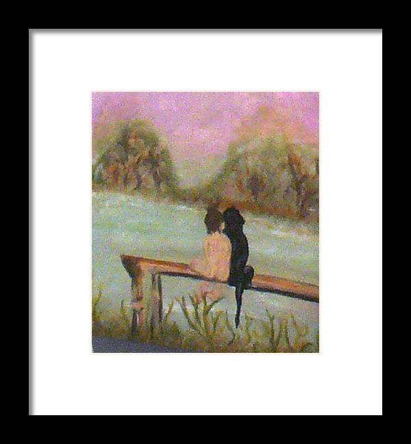 Framed Print featuring the painting Pals by Roxy Furos