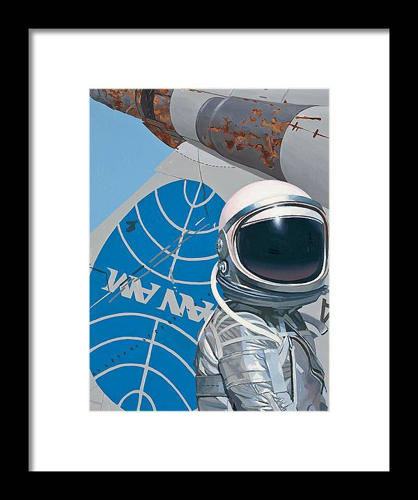 Art Framed Print featuring the painting Pan Am by Scott Listfield